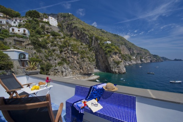 Suite Terramare view from terrace on sea and Amalfi Coast