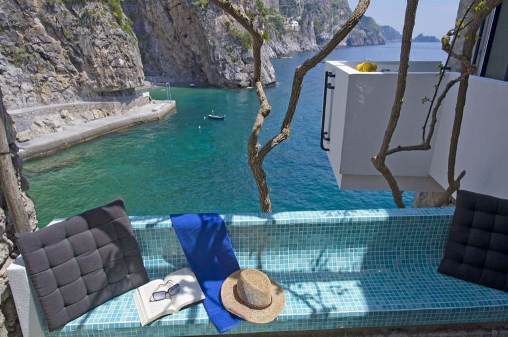 Casa Terramare rear terrace view on the sea