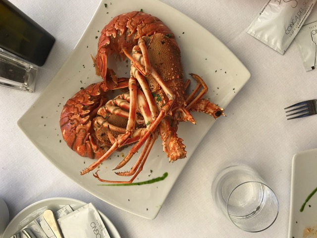 Delicious sea food plate from the Amalfi sea