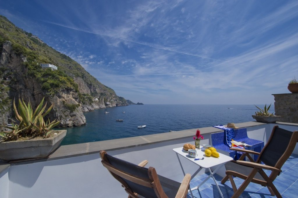 Suite Terramare terrace view on sea and coast