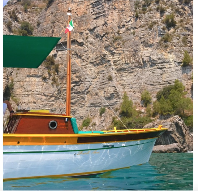 The front of the traditional gozzo boat S. Luca